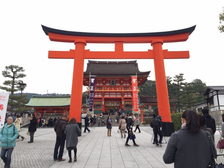 Giant Torii Gate in front of Romon Gate @ Shrine Entrance