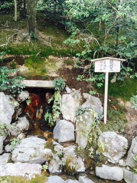 Spring water where Yoshimitsu uses to prepare his tea. However the spring water is depleted today